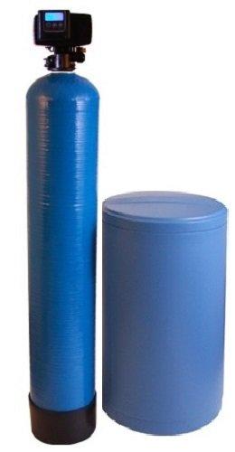 DuraWater 80k, Blue Fleck 5600 SXT Meter Demand Water Softener Grain Capacity 10% Commercial Grade Cation Resin (80,000