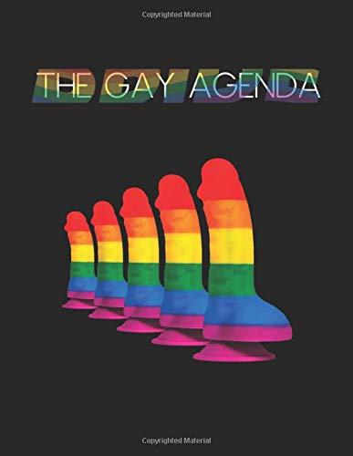 The Gay Agenda: Rainbow Dildo  Lesbian Gay Be Ladyboy Lgbtq Pride Blank Ruled Lined Notebook...