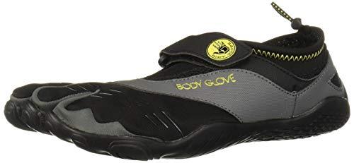 Body Glove Men's 3T Barefoot Max Water Shoe, Black/Yellow, 8