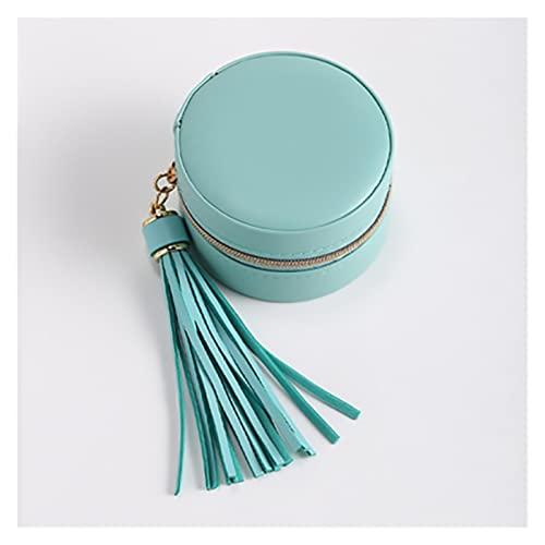 JUSTYINUO Organizzatori Cosmetici Mini Orecchini Orecchini Orecchini Borse di Gioielli Borse Borse Portatile Flanella con Cerniera Scatola di Gioielli .Accessori da Bagno (Color : Blue)