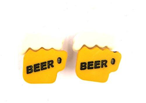 Bier-Humpen Ohrstecker Modeschmuck bunt