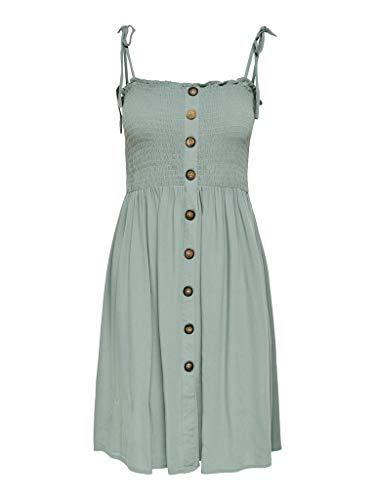ONLY Damen ONLANNIKA S/L Smock Dress WVN NOOS Kleid, Chinois Green, 38