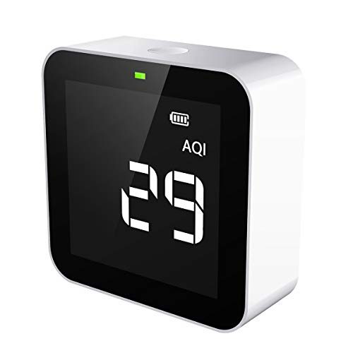 Temtop M10 Air Quality Monitor PM2.5 HCHO TVOC AQI Real-Time Indoor Air Pollution Detector