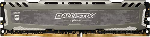 Ballistix Sport LT BLS16G4D30BESB 16 GB (DDR4, 3000 MT/s, PC4-24000, CL16, Dual Rank x8, DIMM, 288-Pin) Memory - Grey