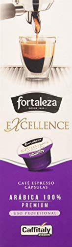 Café Fortaleza Excellence - Cápsulas Compatibles con Caffitaly, Aroma Cítrico, Especial Espresso, 100% Arábica, Uso Profesional, Pack 8 x 10 - Total 80 uds