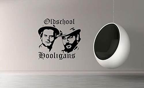 myrockshirt Wandtattoo Oldschool Hooligans Terence Hill und Bud Spencer Silhouette ca. 50cm Aufkleber für Auto,Lack,Scheibe&Wand, Autoaufkleber Decal Sticker Profi-Qualität