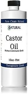 Organic Castor Oil-Ricinus Communis-100% Pure, Clean, Naked Castor Oil, (16 Ounce)
