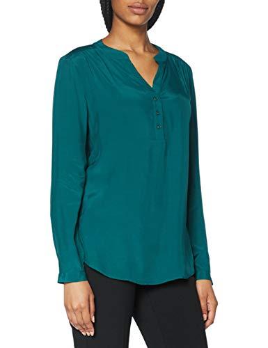 Seidensticker Bluzka damska – modna bluzka – bluzka tunika – dekolt w serek – Regular Fit – długi rękaw