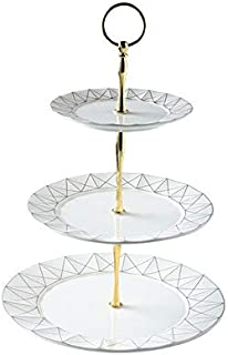 Dishes & Plates - 3 Tiers Fruit Dessert Tray Tower Dessert Plates for Wedding Party Decoration Exquisite Tableware Teatime...