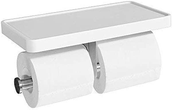 CRO 装饰双厕纸架冠浴室卫生纸架带手机存储货架月卷