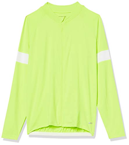 Amazon Essentials Maillot de Ciclismo de Manga Larga Athletic-Shirts, Amarillo De Seguridad,...