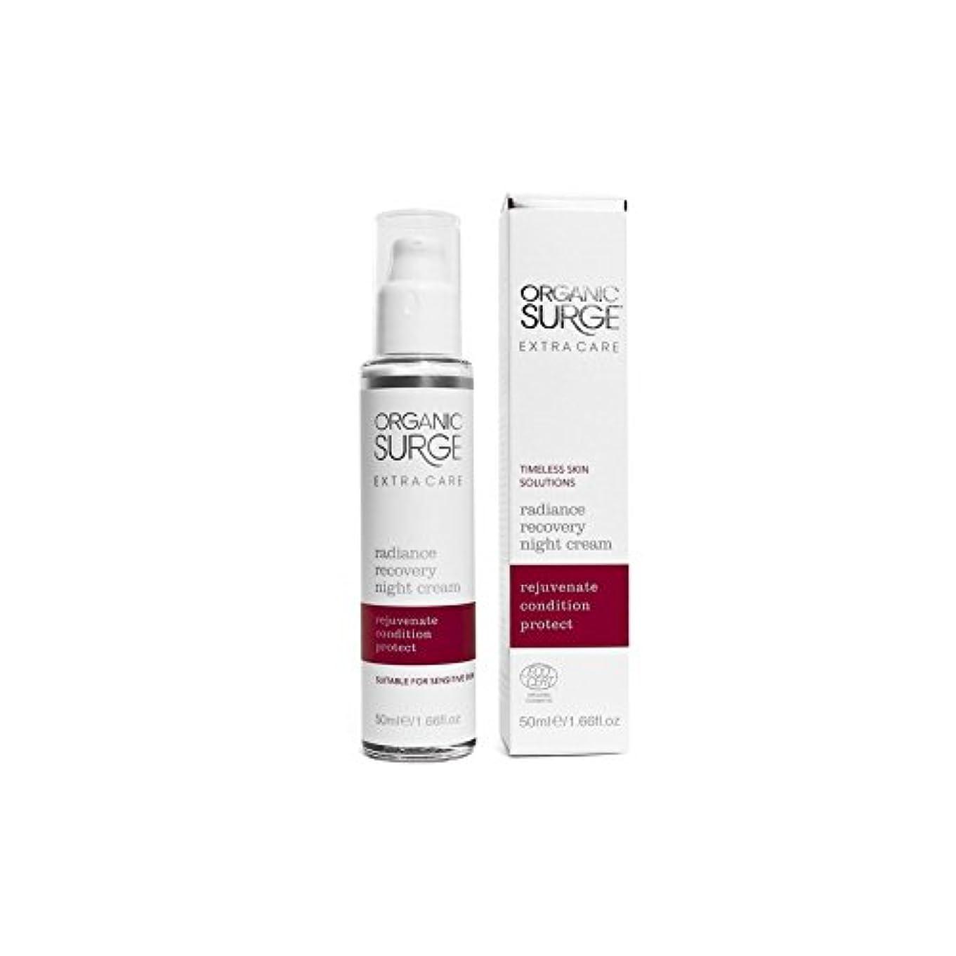 叱る願望デコレーションOrganic Surge Extra Care Radiance Recovery Night Cream (50ml) (Pack of 6) - 有機サージエクストラケア輝き回復ナイトクリーム(50ミリリットル) x6 [並行輸入品]