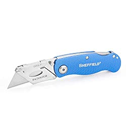 Sheffield utility knife with a blue handle