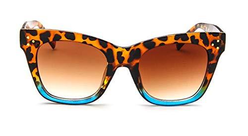 TYJYY Sunglasses Remache Ojo De Gato Gafas De Sol Mujeres Diseñador De La Marca De Lujo Gafas De Sol para Mujer De Gran Tamaño Celebrity Kim Kardashian UV