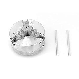 Qiterr Portabrocas, Z011 Accesorio de Abrazadera de Mandril de 3 mordazas de aleación de Zinc para Mini tornos de Metal