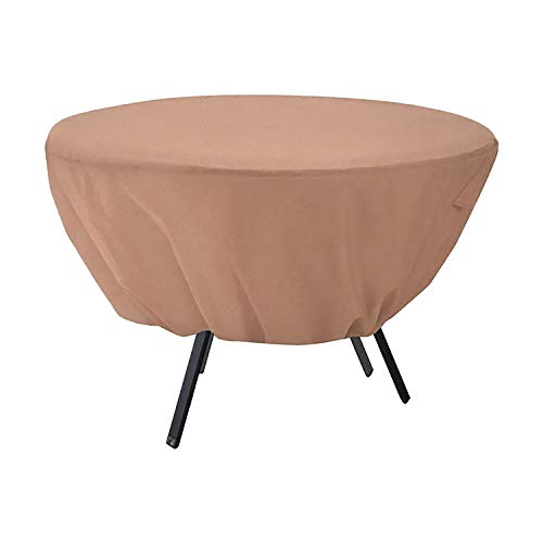 Wodahan Patio Round Table Cover 210D Oxford Cloth,1500 Water Pressure,PU Coating-Waterproof,Snowproof,and Sunproof,Outdoor Dining Table Chair Set Cover,Size (50×23in)