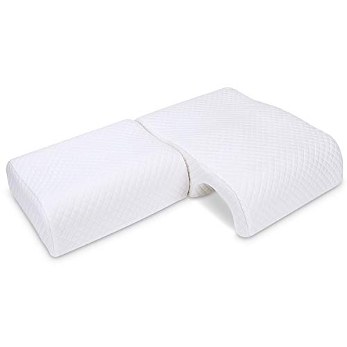 HOMCA Memory Foam Pillow for Couples - Adjustable Cuddle Pillow Anti Pressure Arm Pillow for Back Side Sleepers