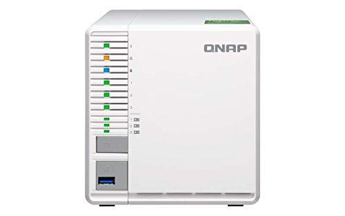 QNAP TS-332X-2G NAS-System, 3x M.2 SSD-Steckplätze, RAID 5 Support, 10GbE SFP+-Port, weiß