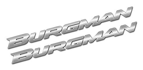 Set 04 Adhesivos Resina Letras 3D Burgman Compatible con Suzuki Burgman