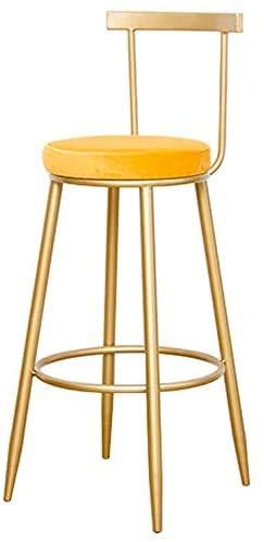 WGEMXC Stühle, Hochstühle, Barstühle, Hocker Barhocker Barhocker Eisenbeine Gepolsterte Fußstütze Rückenlehnenstuhl Gegen Cafe Freizeit,75 cm,75 cm