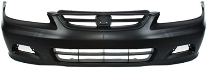 CarPartsDepot, Front Bumper Cover Primed Black Plastic 2dr Replacement, 352-20155-10-PM HO1000195 04711S82A90ZZ