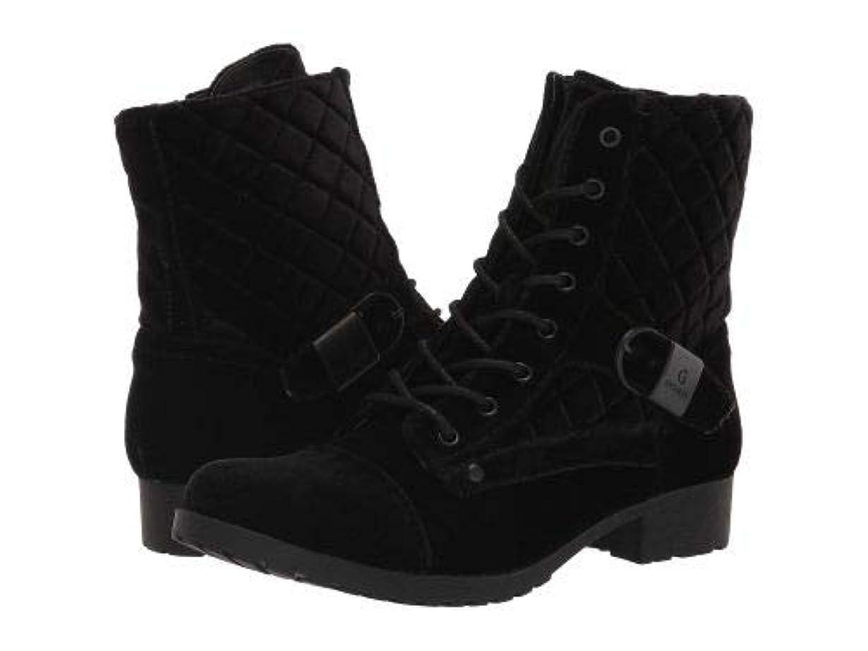 カウボーイプレビューティッシュG by Guess(ジーバイゲス) レディース 女性用 シューズ 靴 ブーツ レースアップブーツ Byson - Black Velvet [並行輸入品]