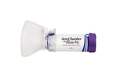 AeroChamber Plus Flow-Vu Antiestático con máscara pequeña para adulto 1 dispositivo