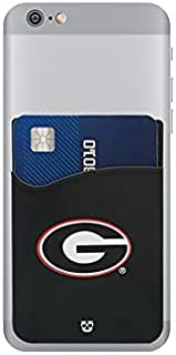 Georgia Bulldogs Adhesive Silicone Cell Phone Wallet/Card Holder for iPhone, Android, Samsung Galaxy, Most Smartphones