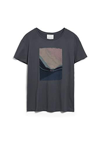 ARMEDANGELS NELAA Breath - Damen T-Shirt aus Bio-Baumwolle M Anthra Shirts T-Shirt Loose fit