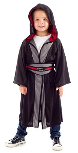 Little Adventures Galactic Warrior Hooded Robe with Belt (Galactic Villain (Black), Large Age 5-7)