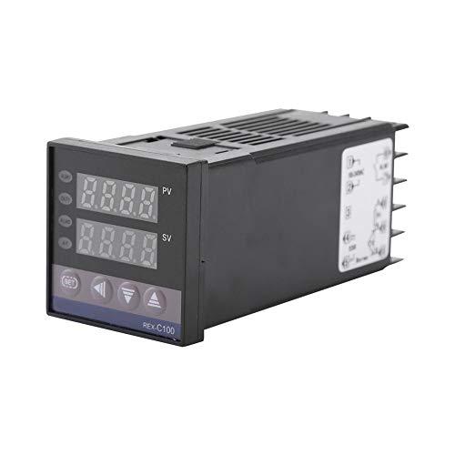 Digitaler Thermostat, 0 ℃ ~ 1300 ℃ Alarm REX-C100 Digitale LED-PID-Temperaturregler-Kits, AC110V-240V, für Elektrische Energie, Chemische Industrie, Spritzguss, Lebensmittel, Inkubator