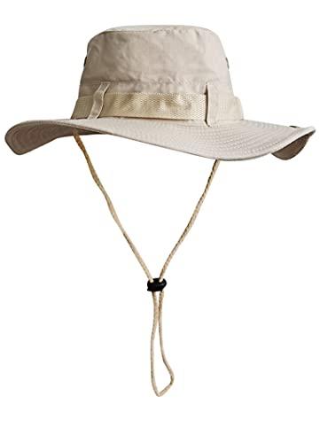 Sombrero del Pescador Plegable para Hombre Mujer, Gorro de Protección Solar UPF 50 de ala Ancha, Sombrero de Pesca Impermeable para Verano, Aires Libre, Caza, Camping Safari