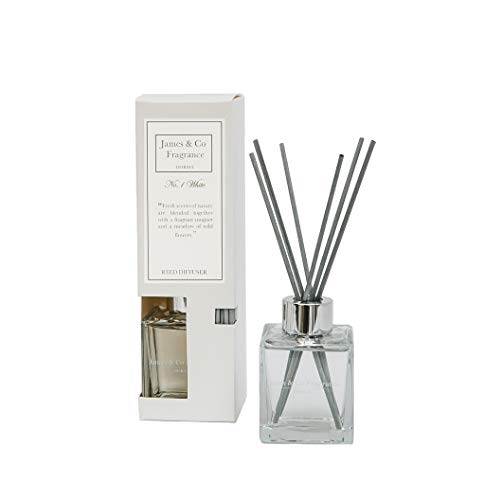 James & Co No. 1 diffuseur de parfum blanc 100 ml (fleur douce, coton et lilas).