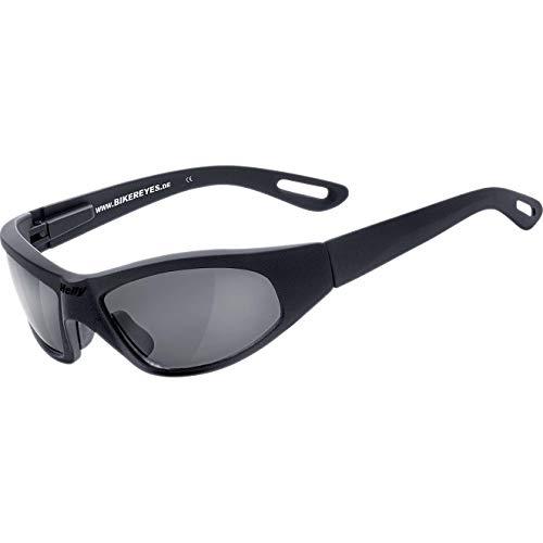 HELLY® - No.1 Bikereyes® | Bikerbrille, Motorradbrille, Motorrad Sonnenbrille | TOPSELLER: beschlagfrei, winddicht, bruchsicher | TOP Tragegefühl bei langen Ausfahrten | Brille: black angel