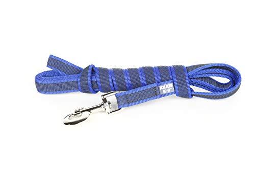 Julius-K9 Guinzaglio Presa Color & Gray Senza Manico, 20 mm x 3 m, Blu