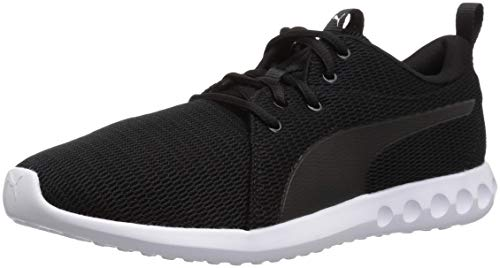 PUMA Men's Carson 2 Sneaker, Black White, 11 M US