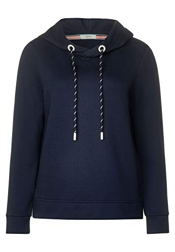 Cecil Damen Sweatshirt mit Kapuze deep Blue XXL
