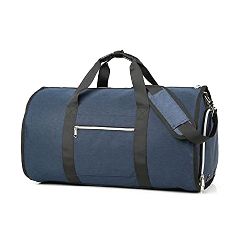 [スーツケースカンパニー]4WAY GPTガーメントバッグ 靴も入る ボストンバッグ ショルダー 手提げ 肩掛け スーツ キャリーオンバッグ 大容量 ネイビー