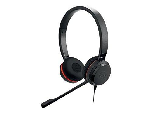 Jabra Evolve 20SE MS Stereo Stereophonisch Kopfhörer schwarz Kopfhörer mit Mikrofon–Kopfhörer mit Mikrofon (Call Center/Büro,-10–50°C,-30–80°C, Stereophonisch, Kopfband, Schwarz)