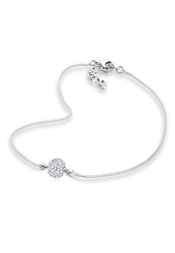 Elli Fußschmuck Elli Damen Fußschmuck mit Swarovski Kristallen in 925 Sterling Silber