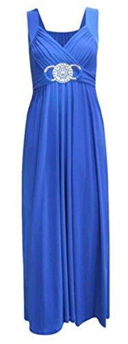 ModaLoco Abendkleid / Ballkleid, lang, mit Schnalle Gr. 46, königsblau