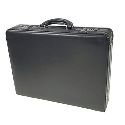 d&n Business Line Aktenkoffer aus Leder 46 cm schwarz