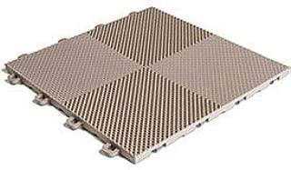 BlockTile B2US5130 Deck and Patio Flooring Interlocking Tiles Perforated Pack, Beige, 30-Pack
