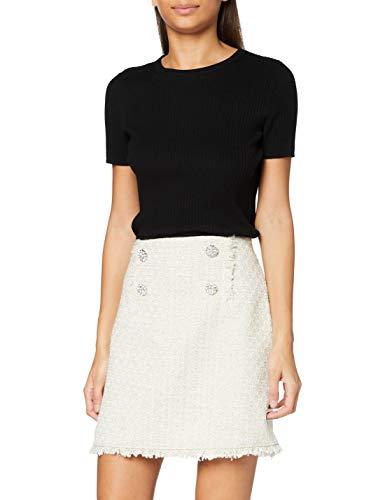 Miss Selfridge Gold Premium Boucle Skirt Gonna, Oro, 18 Donna