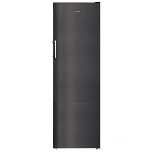 EVVO Congelador Vertical F170DX - 206 litros, Tecnología Inverter, MULTI AIR FLOW, Clase energética A+, 4 años de garantía, Color Dark Inox