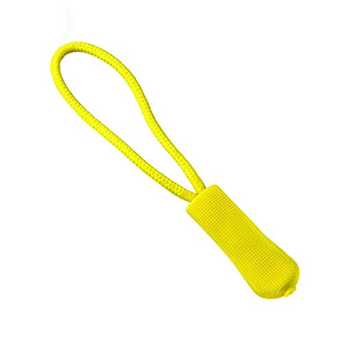 5PCS Cremallera Tirador de etiquetas Fijador Cordón con cremallera Lengüeta Clip de repuesto Hebilla rota Bolsa de ropa de viaje Maleta Mochila Accesorios-Type1-Yellow