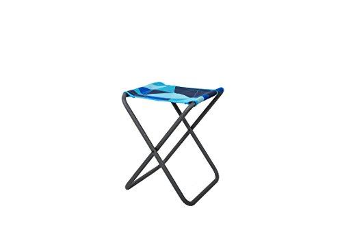 Portal Unisex– Erwachsene Beat House Campinghocker bis 100 kg, leichter Klapphocker Angelstuhl moderner Festival Hocker, Blau, 1 Person