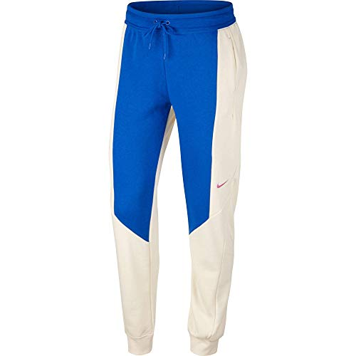 Nike NSW Jogger CB - Pantaloni da Donna, Donna, Pantaloni, CK1400, Game Royal/Fossil, XL
