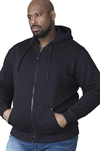 Rockford KS1609 Kapuzen Sweat-Jacke schwarz in Übergrößen: Farbe: schwarz   Größe: 68/7XL