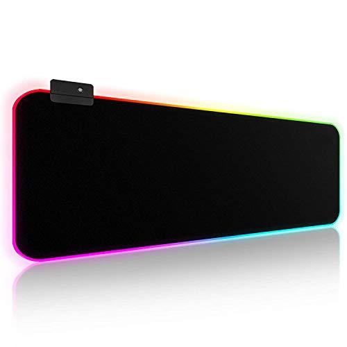 TAG GAMERZ - RGB XXL Mouse Pad with 7 Static, Rainbow, Flashing, Wave (13 Modes) - 800mm X 300mm X 4mm